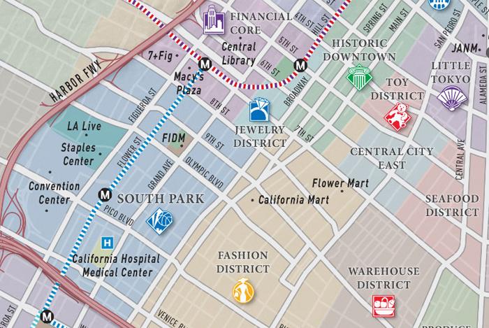 Los Angeles Fashion District Map | afputra.com